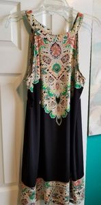 Ladies Boho Print Dress